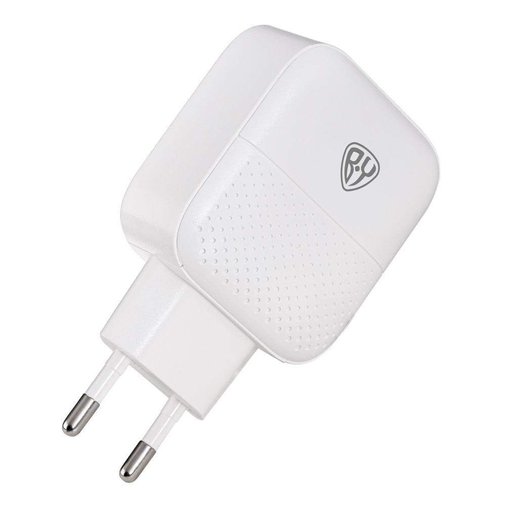 Зарядное устройство FORZA Модерн USB, 220В, 2USB, 3А, Быстрая зарядка QC3.1