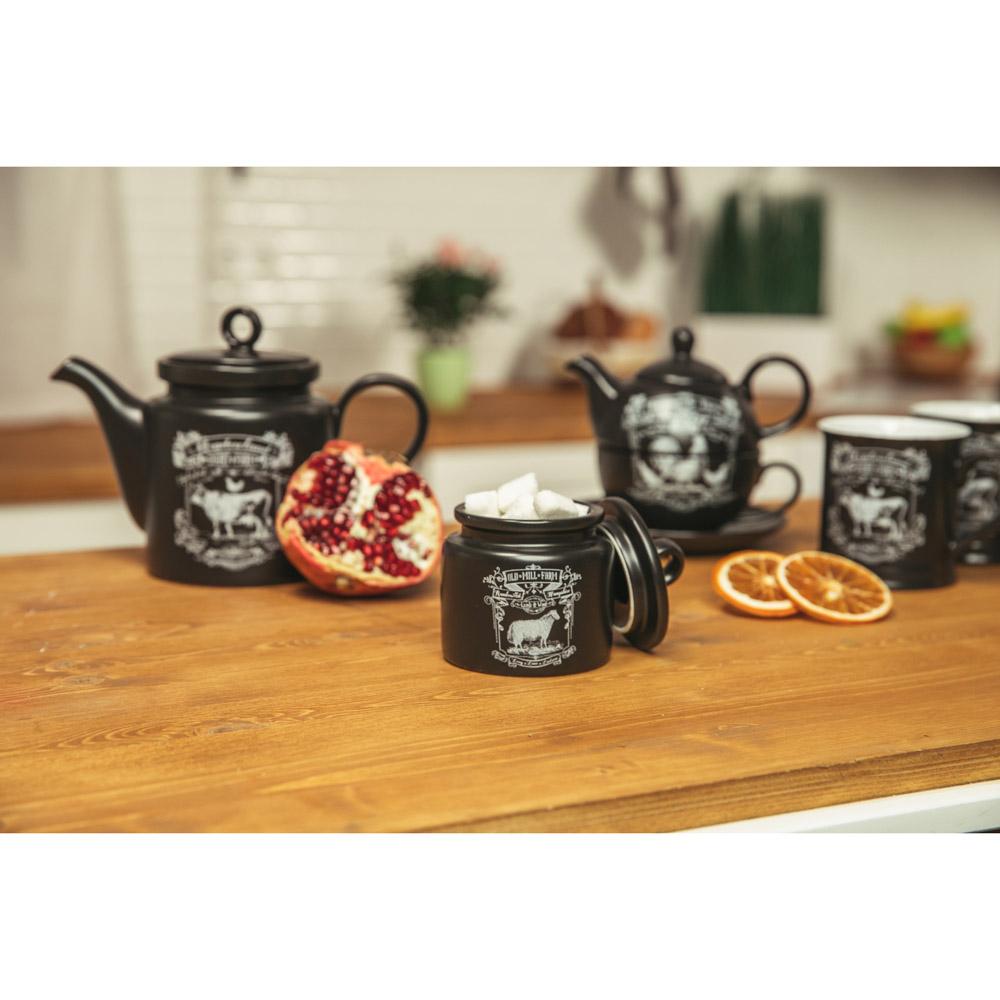"MILLIMI Ранчо Набор чайный ""Эгоист"", чайник 380мл, чашка 320мл, блюдце 15см, керамика"