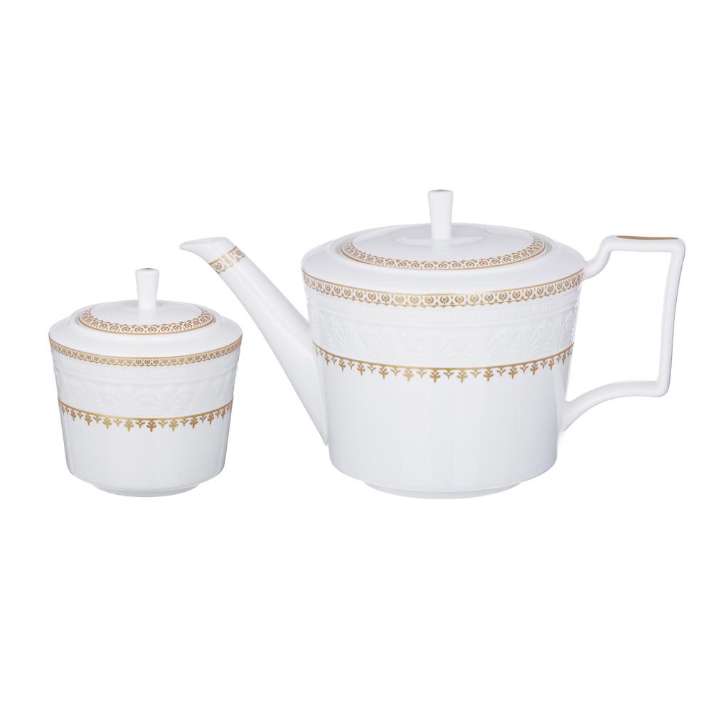 MILLIMI Наполеон Набор чайный 14 пр., чашка 300мл, чайник 1250мл, сахарница 350мл, кост. фрф
