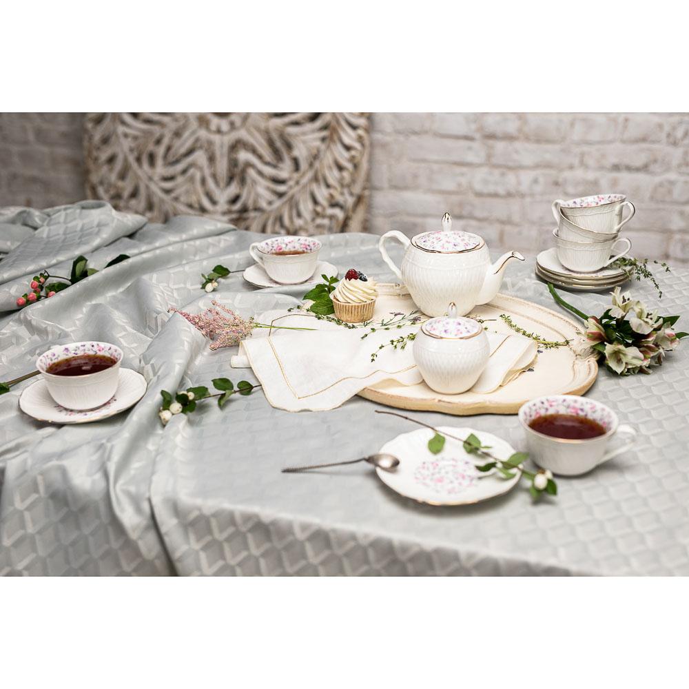MILLIMI Пастораль Набор чайный 14 пр., чашка 250мл, чайник 900мл, сахарница 280 мл, кост. фрф