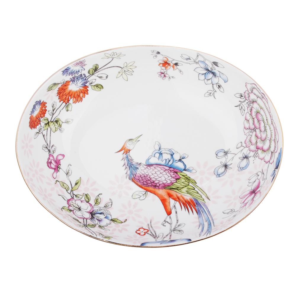 MILLIMI Райская птица Конфетница 16,5х12,5х4,5см, костяной фарфор