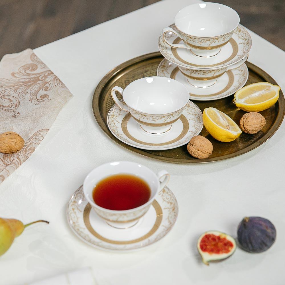MILLIMI Муза Набор чайный 12 пр., 220мл, костяной фарфор