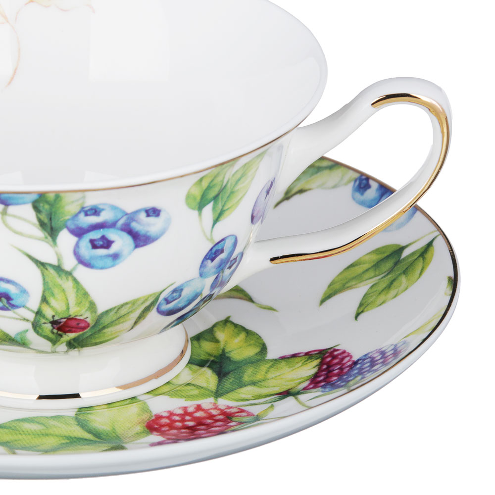 MILLIMI Французский сад Набор чайный 12пр, 220мл, костяной фарфор