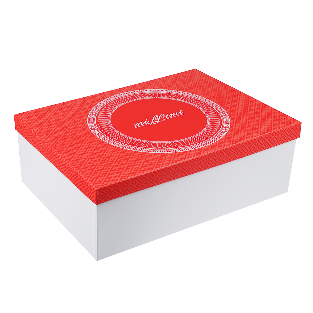 MILLIMI Красный Монфор Набор чайный 14пр, чашка 210 мл, чайник 1100 мл, сахарница 310 мл, кост. фрф