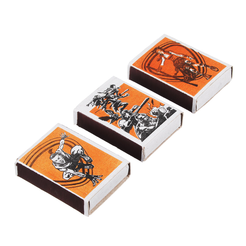 BY Спички бытовые, БЛОК 10 коробков 7,5х6,5х5,1см, осина, картон, зажигательная масса.