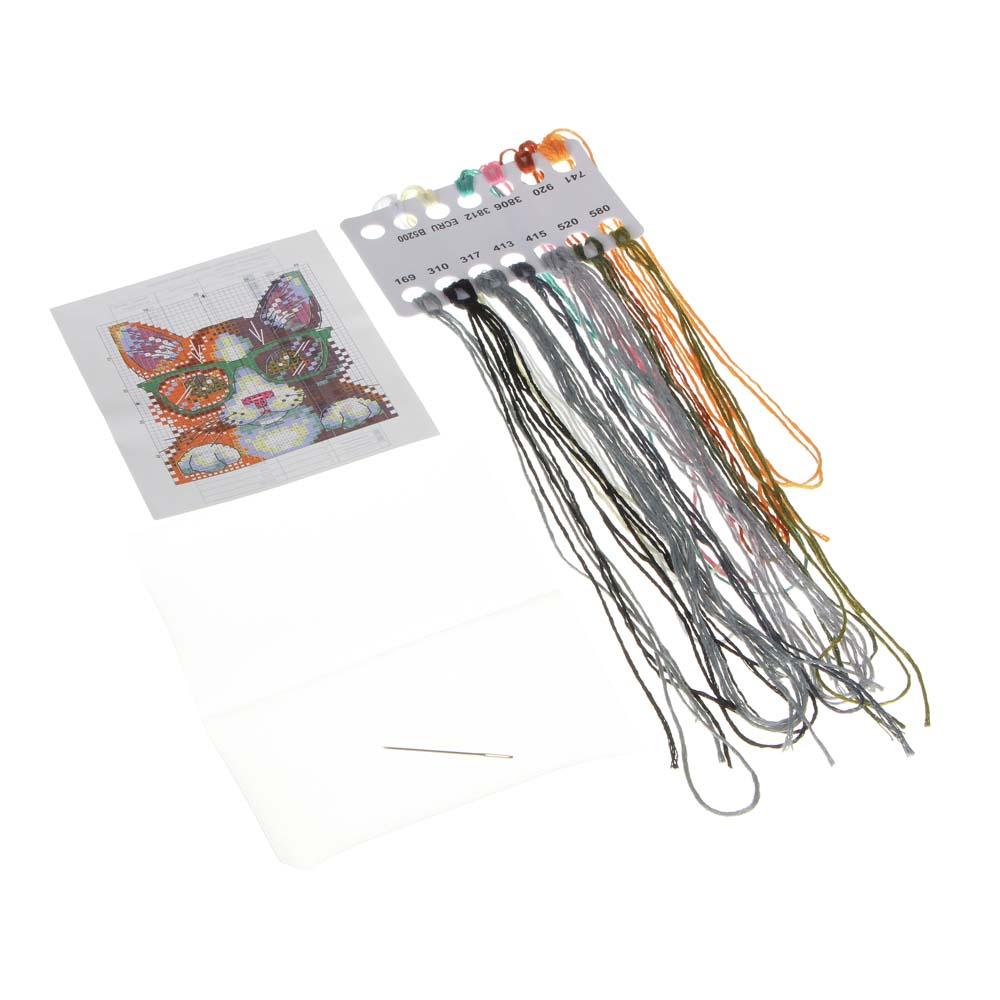 Набор вышивки на одежде, водорастворимая канва, нити, игла, 6-12 дизайнов