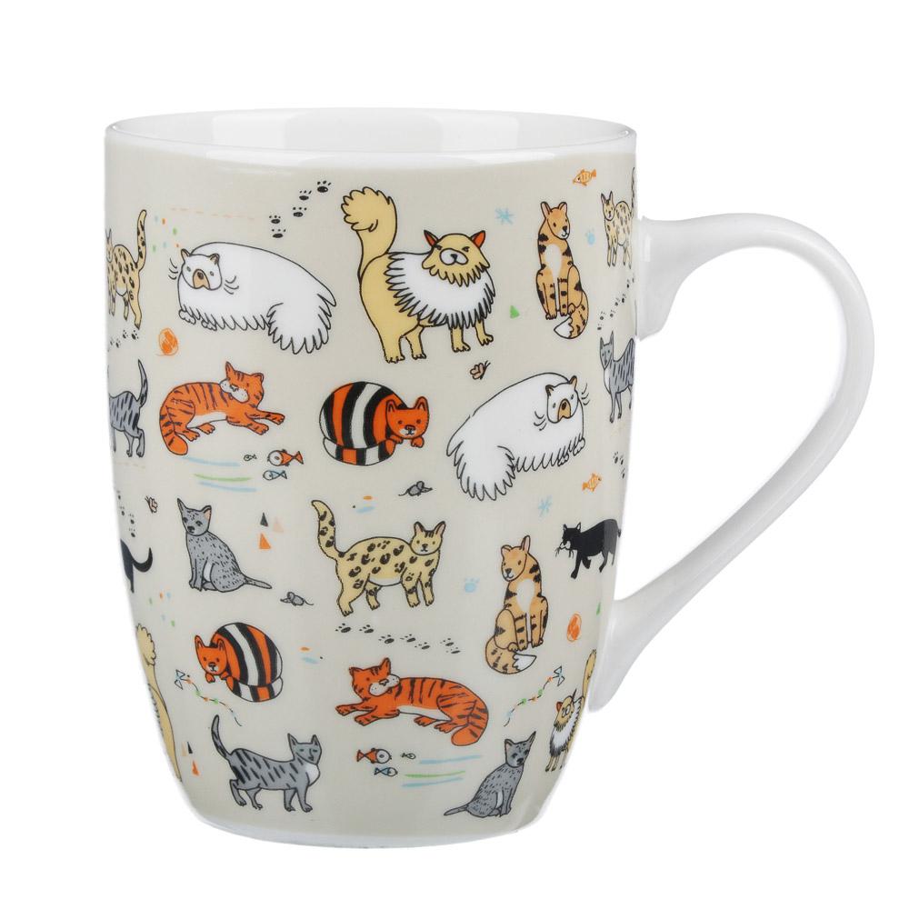 MILLIMI Веселые коты Кружка 340мл, керамика, 4 дизайн