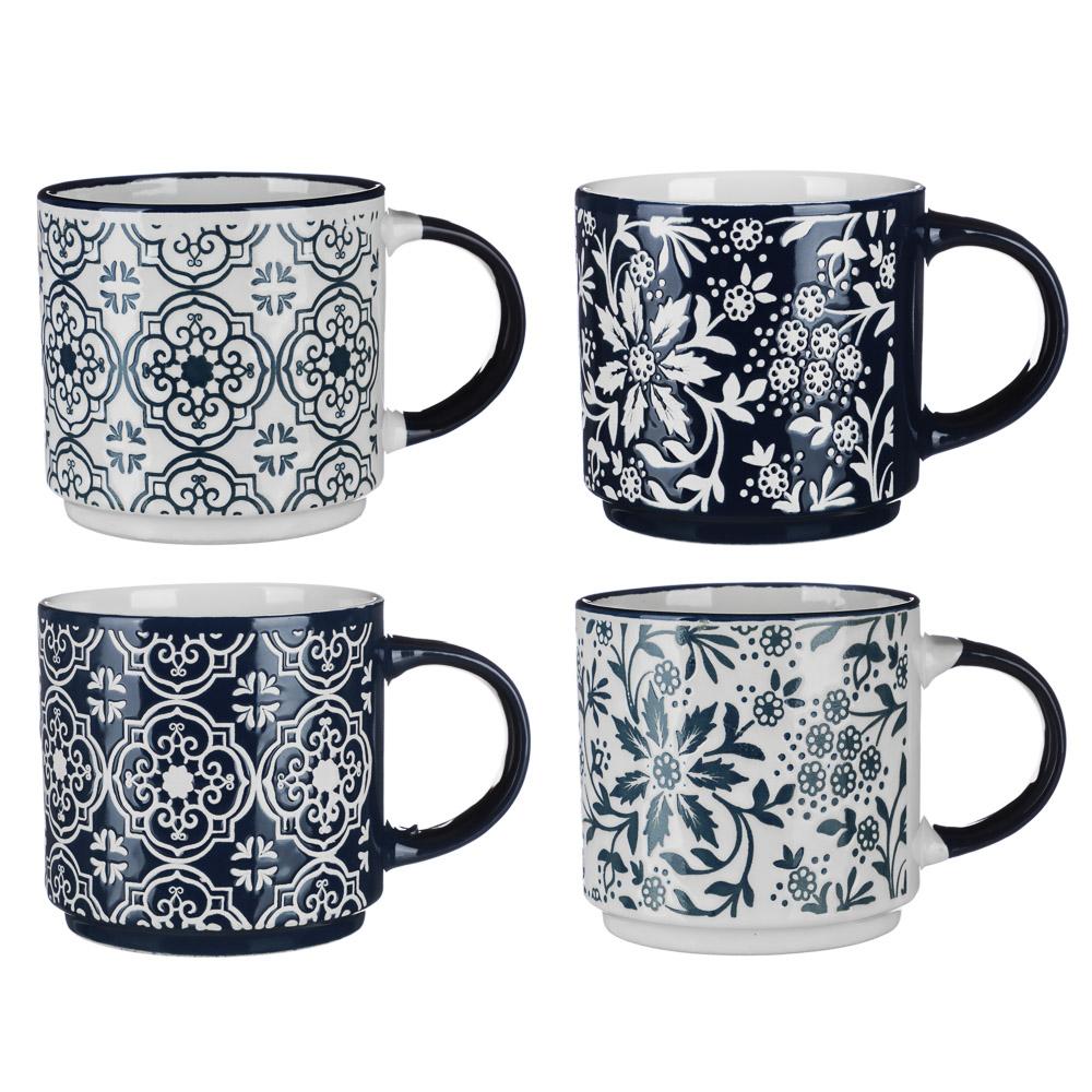 MILLIMI Арабеска Кружка 390мл, керамика, 4 дизайна
