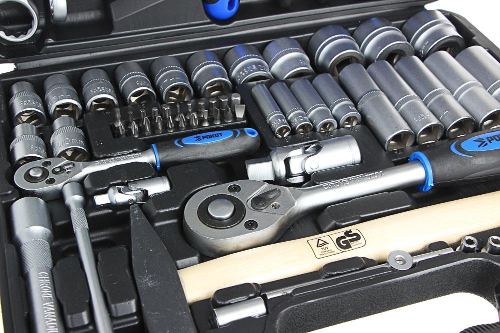 РОКОТ Набор автомобильных инструментов, 74 предметов