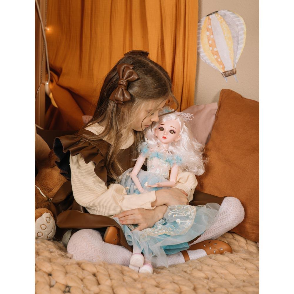 ИГРОЛЕНД Кукла коллекционная шарнирная, 60см, пластик, полиэстер, 3 дизайна