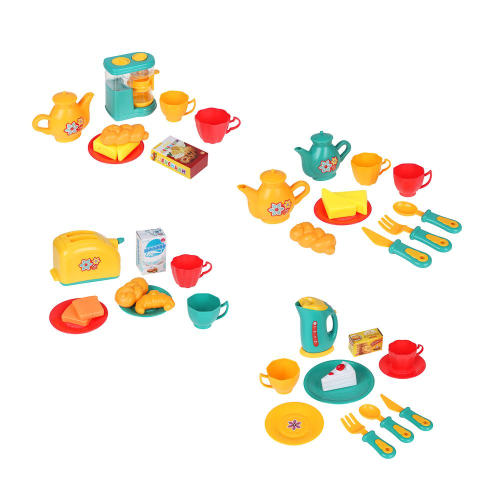ИГРОЛЕНД Игровой набор Посудка, пластик, 9-11 пр., 35х24х7 см, 3 дизайна
