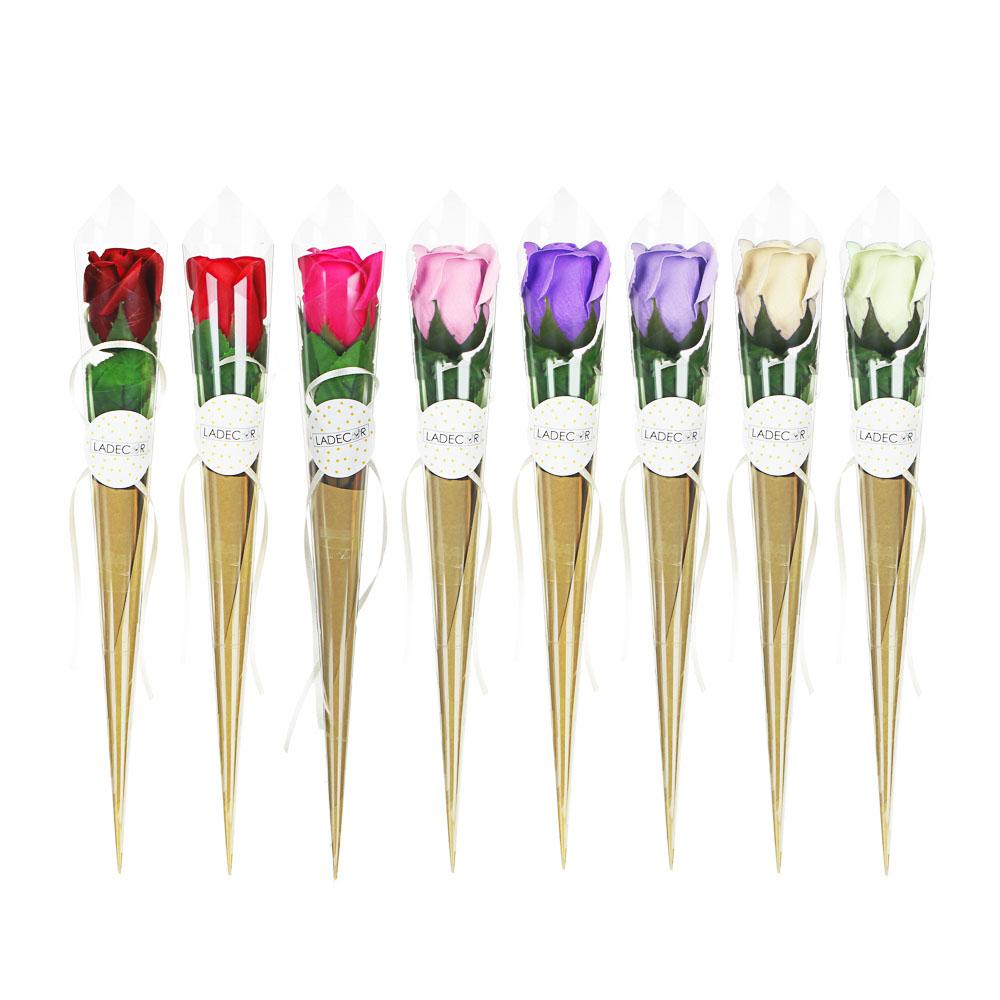 LADECOR Лепестки мыльные в форме розы, 39-41см, 8 цветов
