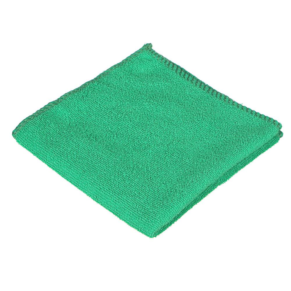 Полотенце подарочное, микрофибра, 30х30см, в виде елочки, 12х5,5 см