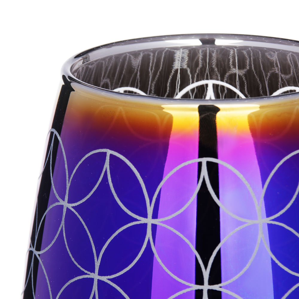 LADECOR Ваза стеклянная с рисунком, 24х11/26х8,2см, 6 дизайнов