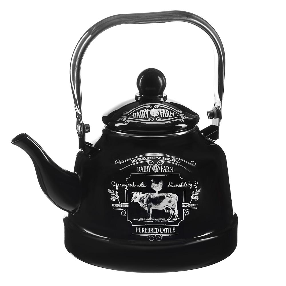 VETTA Ранчо Чайник эмалированный 2,5 л, 3 дизайна, индукция