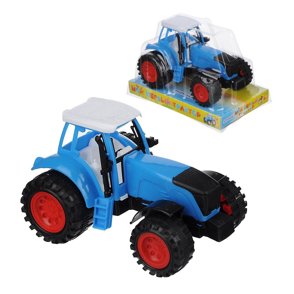 """ИГРОЛЕНД Трактор """"Мой первый трактор"""", инерция, РР, 18х12х11см"""