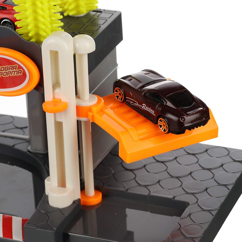 ИГРОЛЕНД Парковка с автомойкой, 22пр., свет, звук, ABS, PР, железо, сталь,2АА, 42,5х30х9см