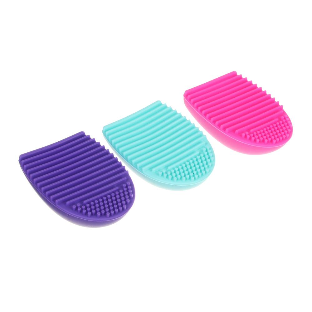 Щетка для чистки косметических кистей ЮниLook, 7,2x5,5 см, 3 цвета