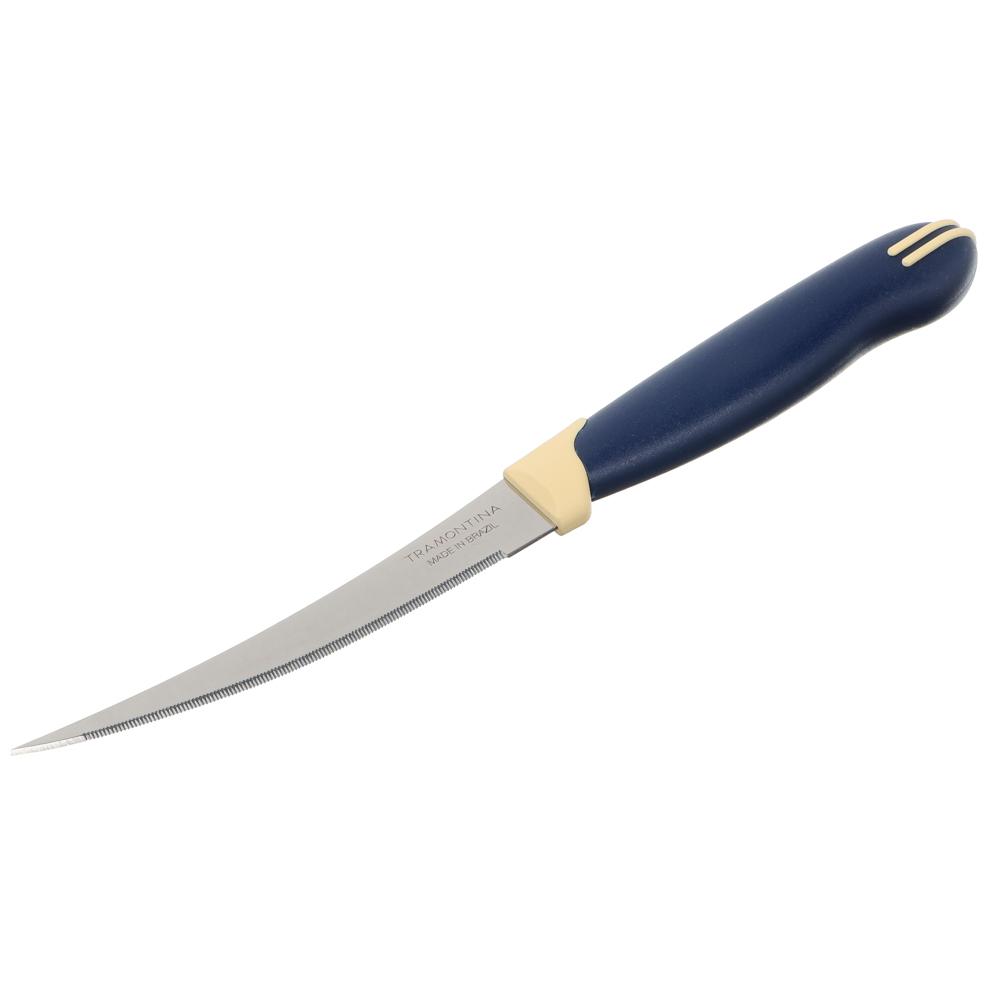 Tramontina Multicolor Нож для томатов 10см, блистер, цена за 2шт., 23512/214