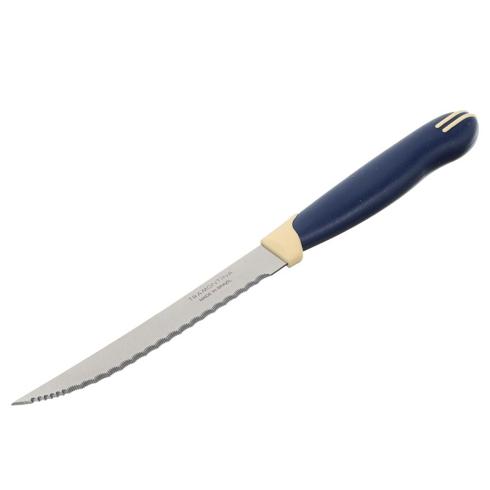 Tramontina Multicolor Нож кухонный с зубцами 12.7см, блистер, цена за 2шт., 23529/215
