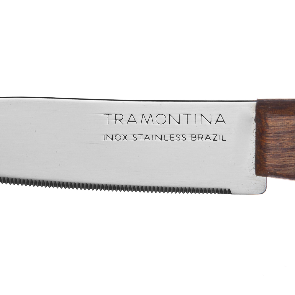 Tramontina Tradicional Нож кухонный с зубцами 8см, блистер, цена за 2шт., 22270/203
