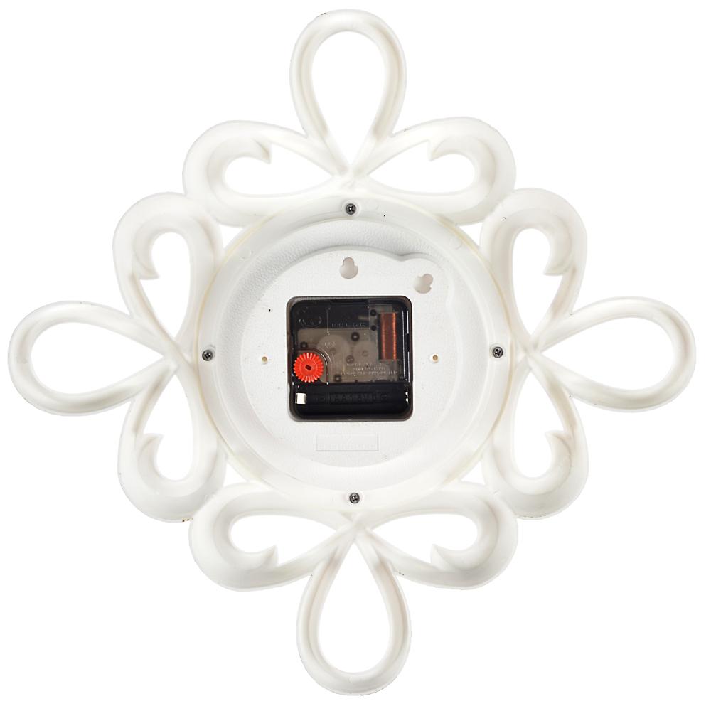 Часы настенные, 13см, пластик, 2 дизайна в декоративной раме
