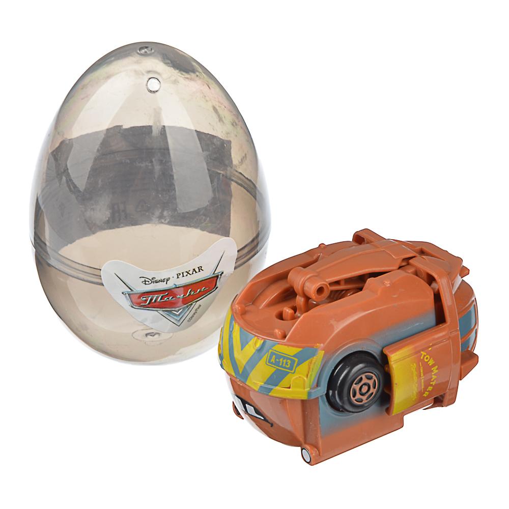 "Disney/Pixar Игрушка яйцо-трансформер ""Тачки"" 6х6х8,5см, пластик, 4 дизайна"