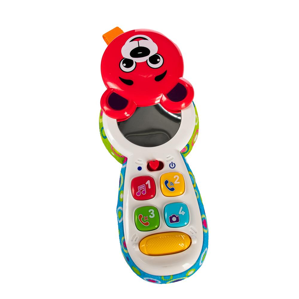ИГРОЛЕНД Игрушка обучающая в виде телефона, свет, звук, 2xААA, ABS, 16х8х4см, 2 дизайна