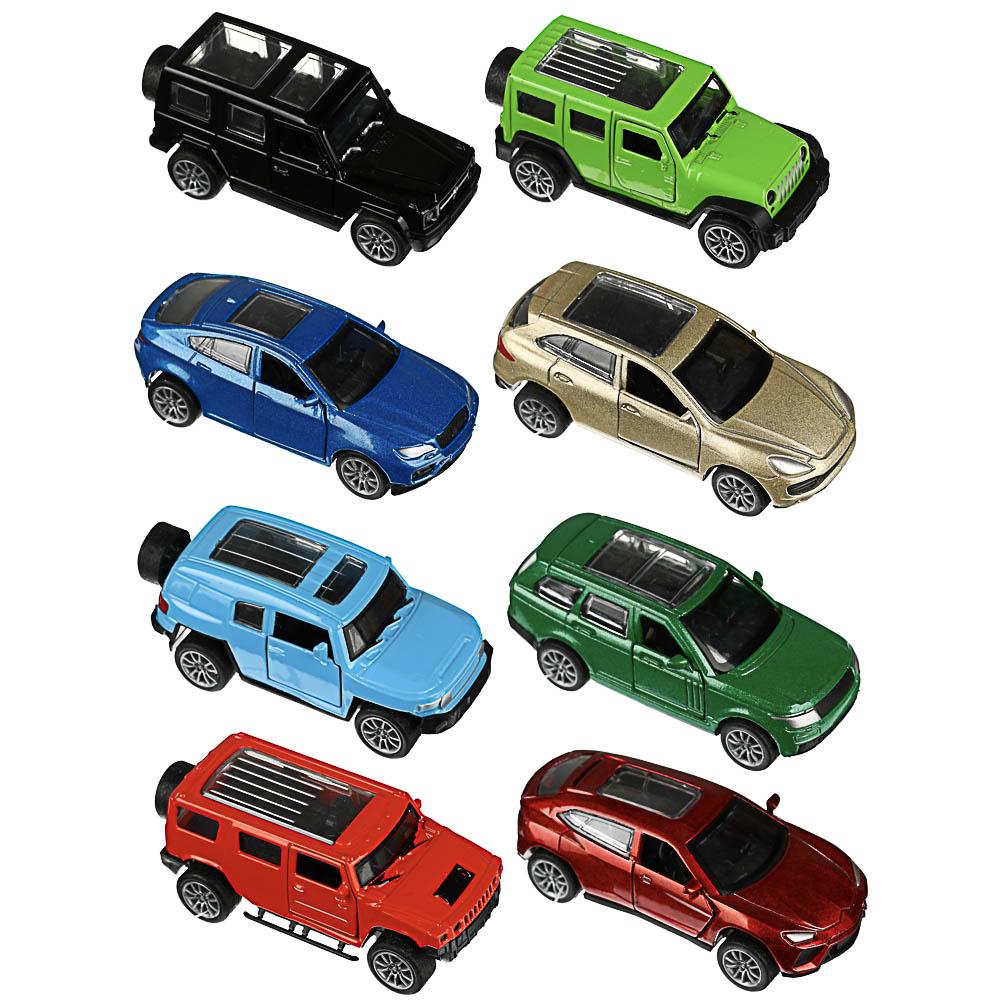 ИГРОЛЕНД Машинка инерционная, двери открываются, металл, ABS, 9х3-3,8х3,8см, 8 дизайнов