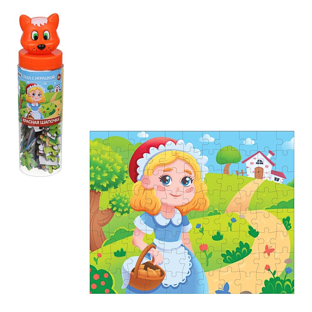 ИГРОЛЕНД Пазл с игрушкой, 88 дет., PVC, PP, картон, 5,5х19,5х5,5см