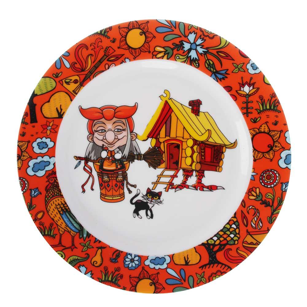 MILLIMI Бабуся Ягуся Набор детской посуды 3 предмета, костяной фарфор