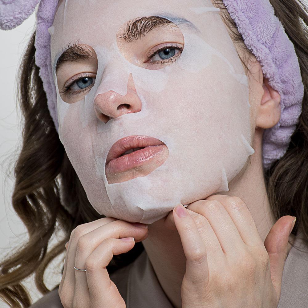 Маска для лицатканевая ЮниLook, антивозрастная и подтягивающая с витамином Е, 25 мл