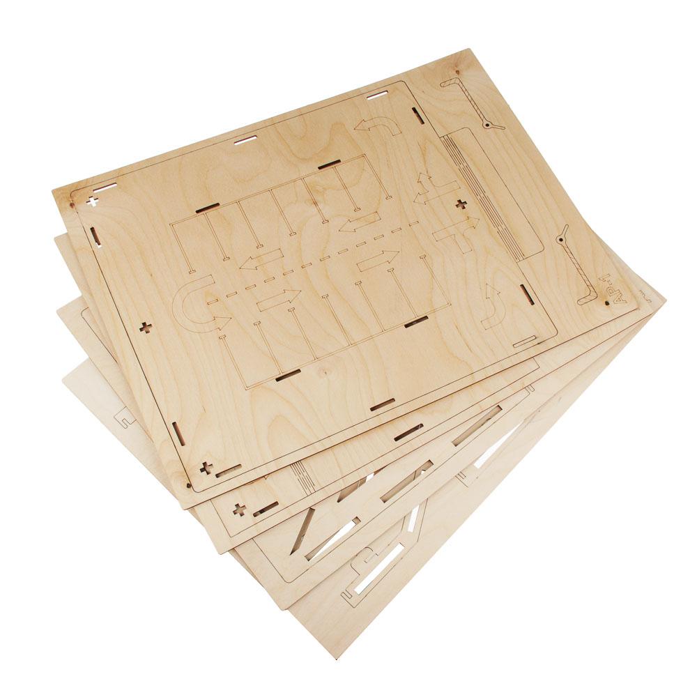 ИГРОЛЕНД Парковка для машинок деревянная, 44х50х19 см