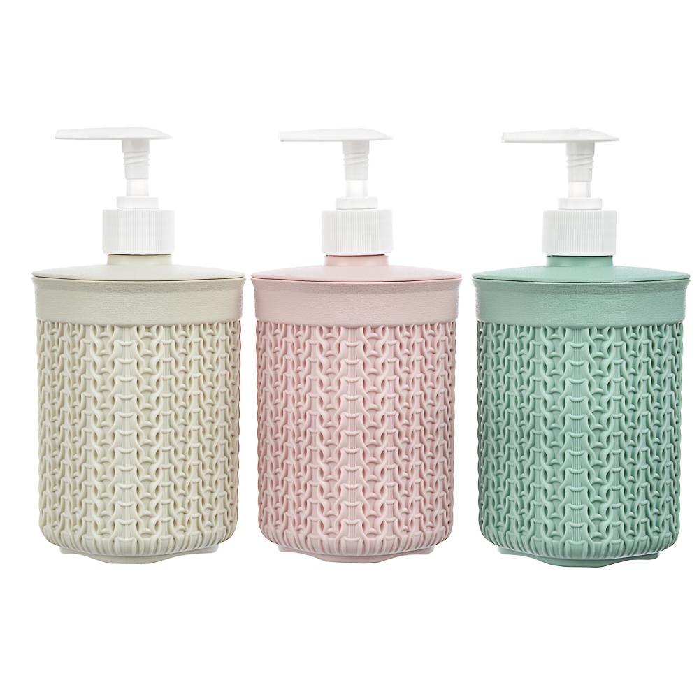 Дозатор для жидкого мыла вязаный, полипропилен, 19х8,5х8,5 см, 3 цвета