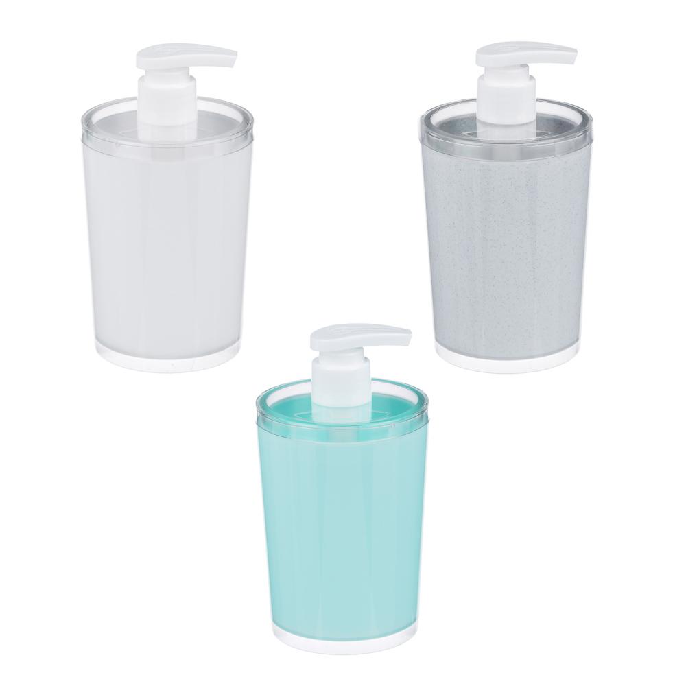 "Дозатор для жидкого мыла ""Марио"", пластик, 300мл, 78х166 мм, 3 цвета"