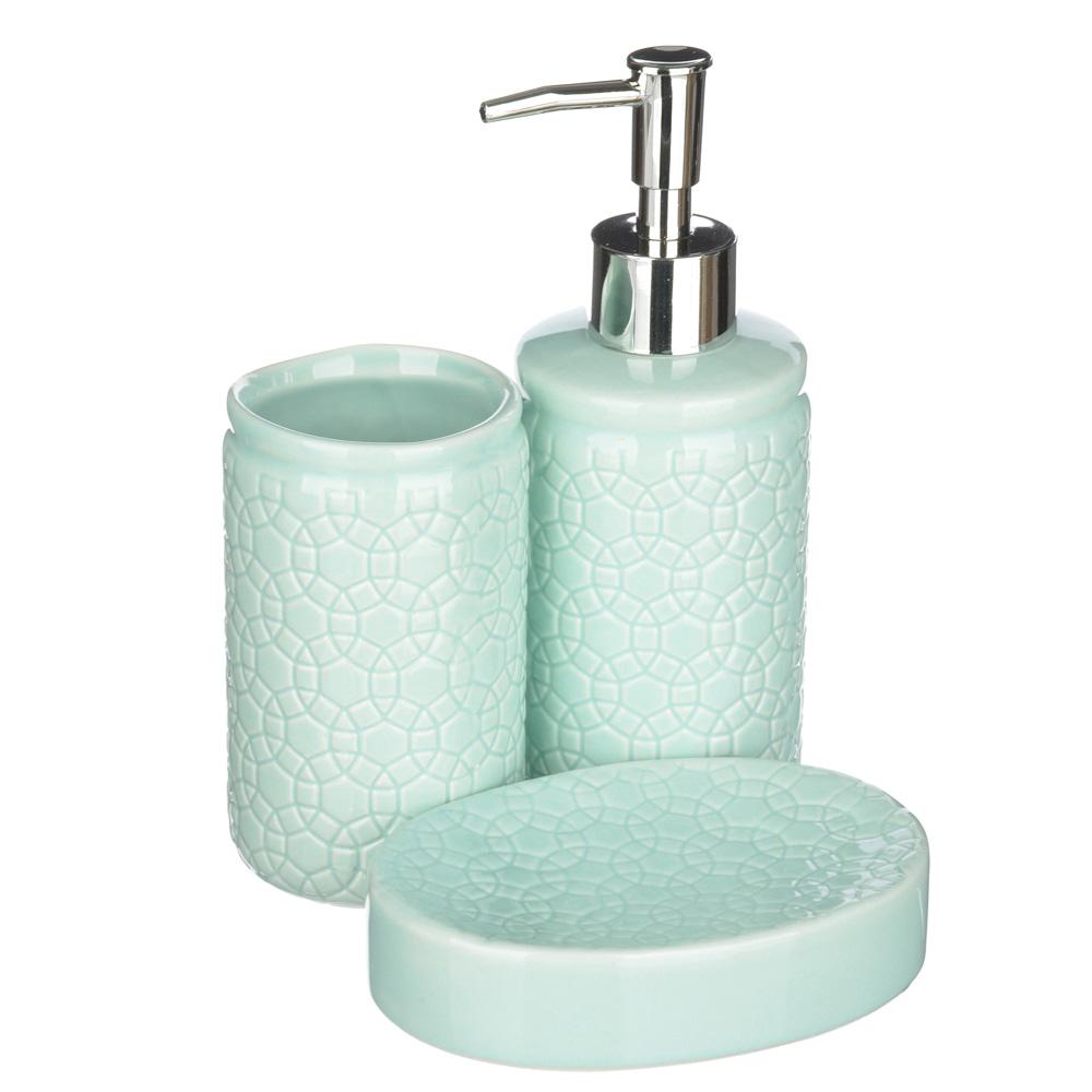 """VETTA Набор для ванной """"Соблазн"""", 3 предмета, керамика, 2 дизайна"""