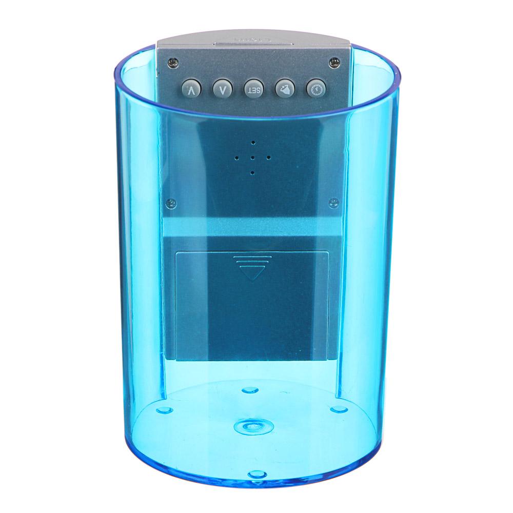 LADECOR Будильник электронный в виде подставки для ручек, подсветка, 8,5х12х8,5см, пластик, 3хAAA