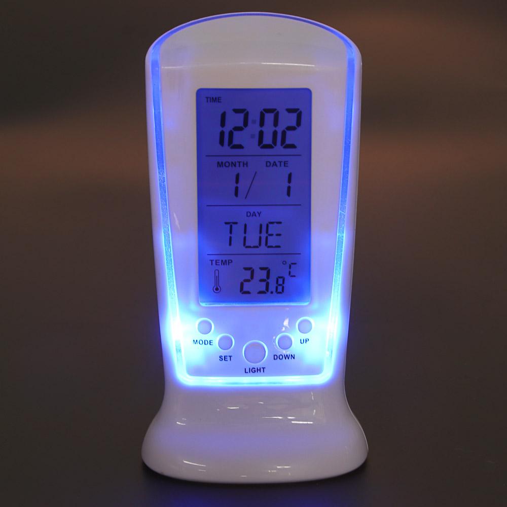 LADECOR CHRONO Будильник электронный с подсветкой, датойи температурой,ABS, 12,6х5,8х5,5см