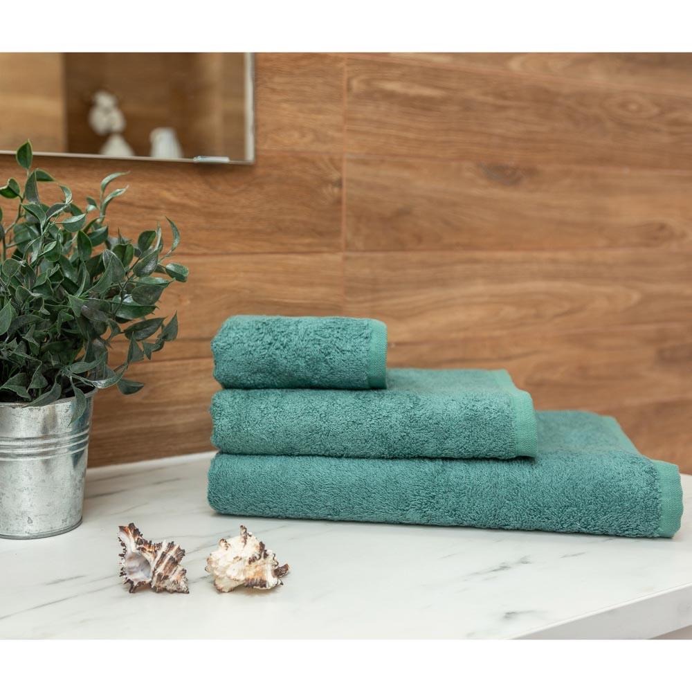 PROVANCE Бамбук Полотенце махровое, 70% бамбук, 30% хлопок, 70х130см, 400гр/м, изумруд