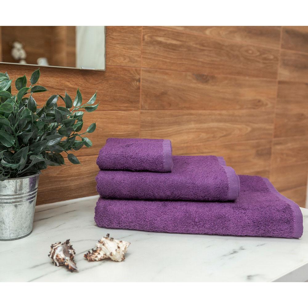 PROVANCE Бамбук Полотенце махровое, 70% бамбук, 30% хлопок, 70х130см, 400гр/м, фиолет