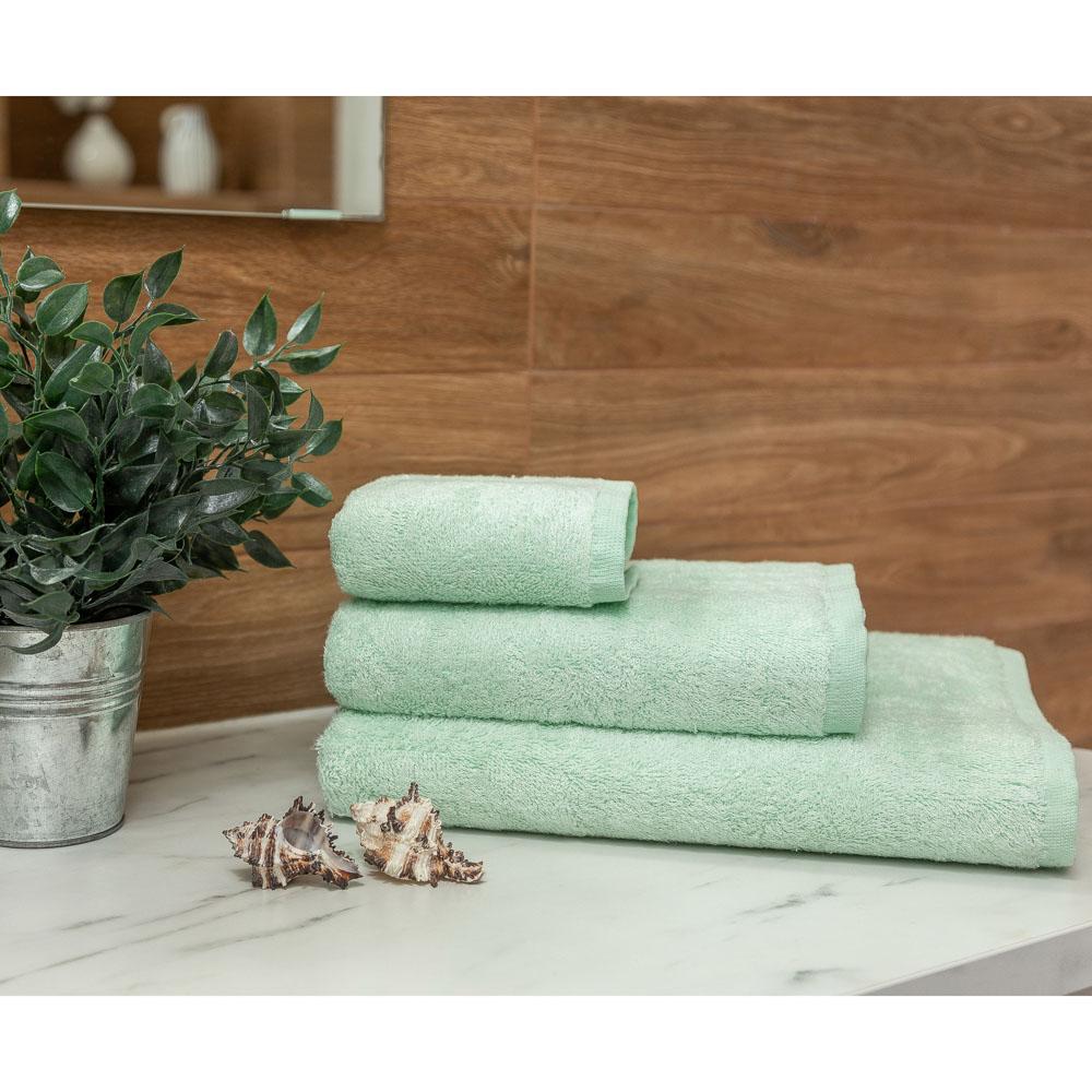 PROVANCE Бамбук Полотенце махровое, 70% бамбук, 30% хлопок, 30х50см, 400гр/м, изумруд, мята