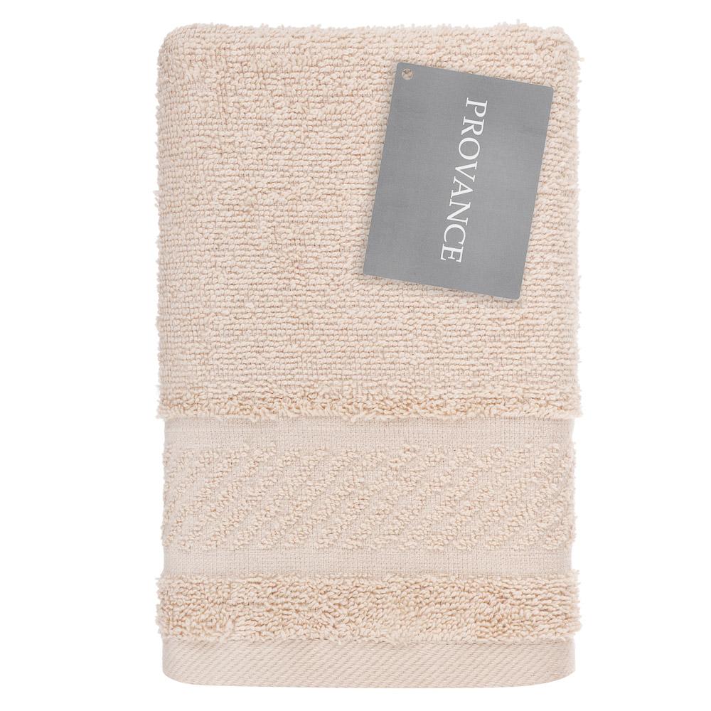 PROVANCE Виана Полотенце махровое, 100% хлопок, 30х70см, 450гр/м, капучино, бежевый