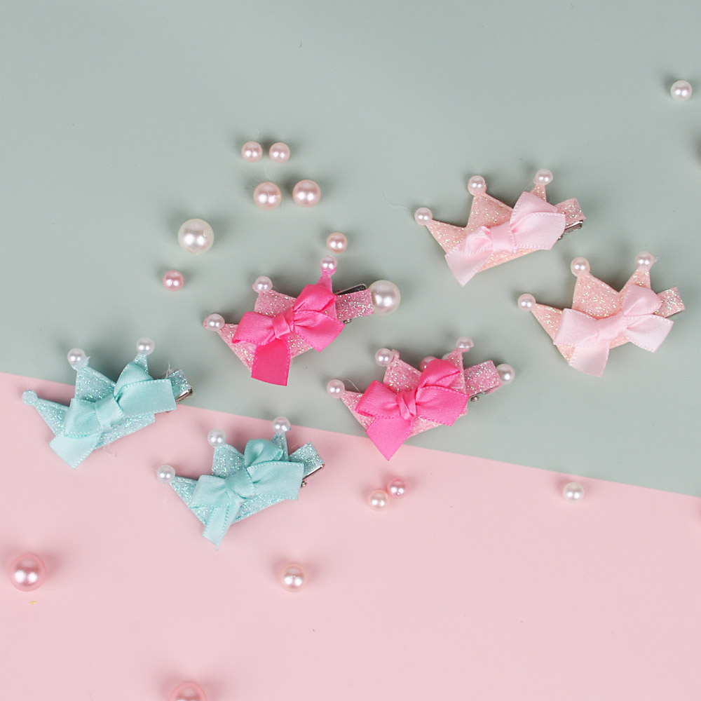 BERIOTTI Заколка-зажим 2шт, 3,5см, биж.сплав, полиэстер, пластик, 4 дизайна, ПР