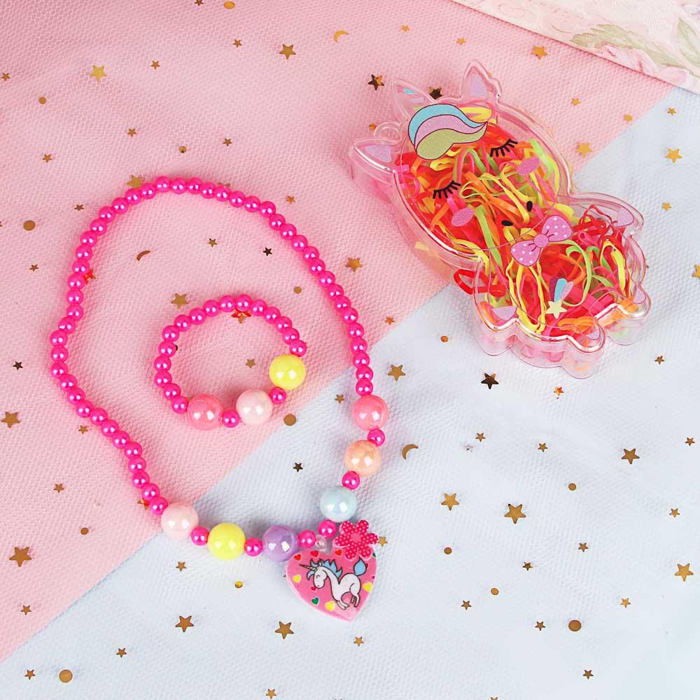 Набор бижутерии BERIOTTI: ожерелье, браслет, набор резинок в футляре,  6 дизайнов