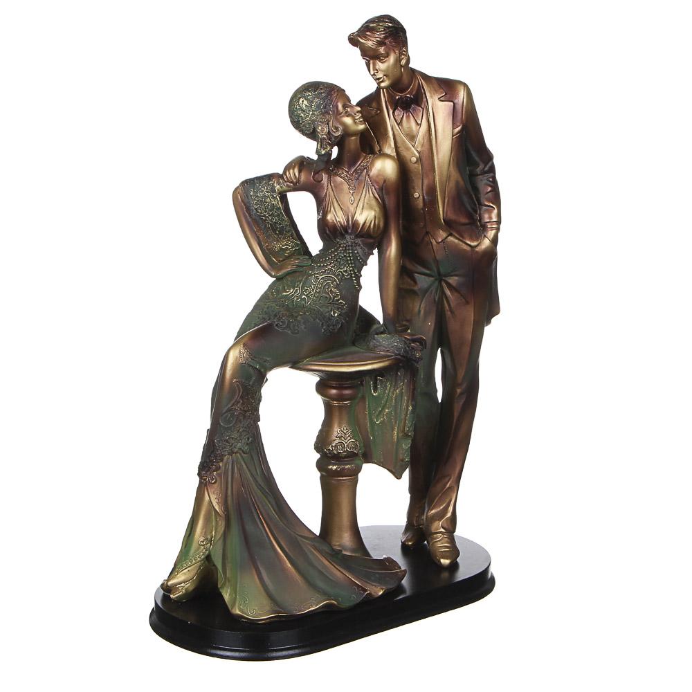 LADECOR Статуэтка в виде влюбленной пары, полистоун, 12х22х32см