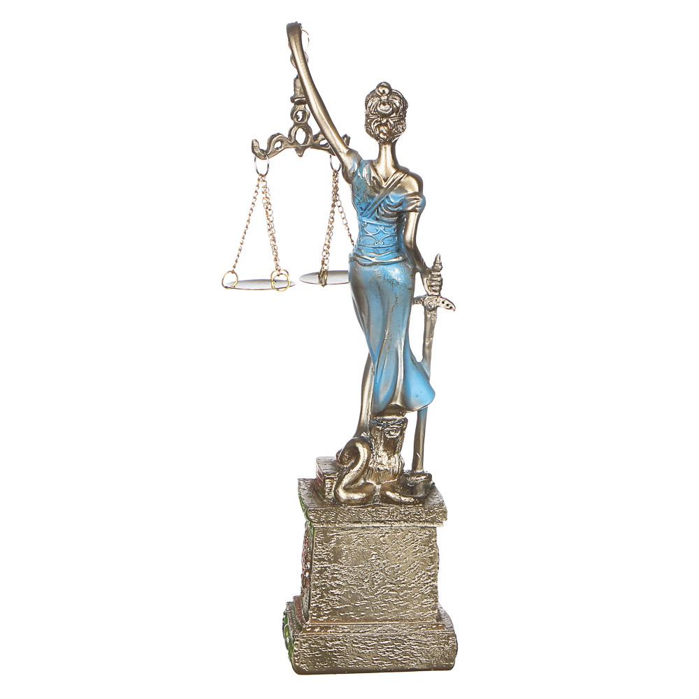 LADECOR Часы-статуэтка в виде богини, полистоун, 27х7х5см, 1хAG13