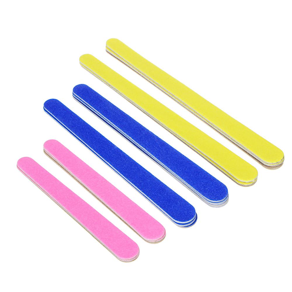 Пилки для ногтей 2-х сторонние ЮниLook, 18 шт, 180/180 грит