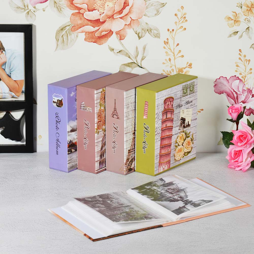 Фотоальбом 14х17см, на 40 фото 10х15см, PP, картон, 12 дизайнов