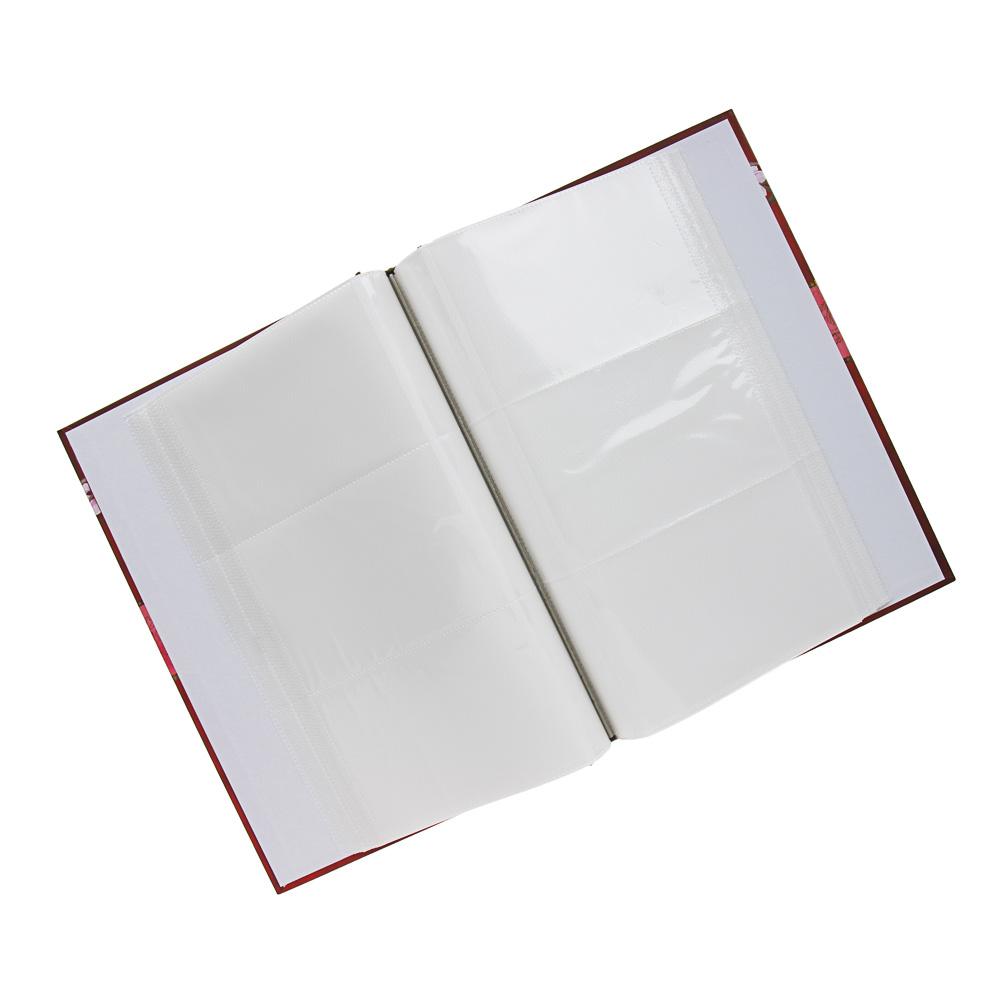 Фотоальбом 34х23см, на 300 фото 10х15см, PP, картон, 4 дизайна