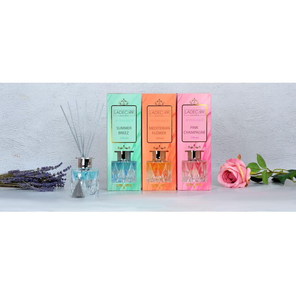 LADECOR Аромадиффузор с палочками, 100мл, 4 аромата
